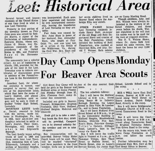 Beaver County Times Article, June 20, 1969