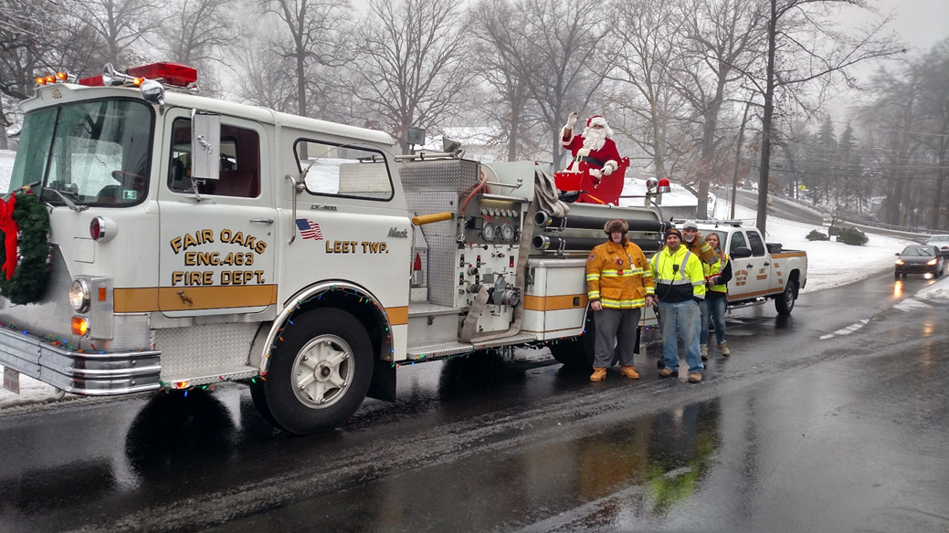 Santa on the Fire Truck